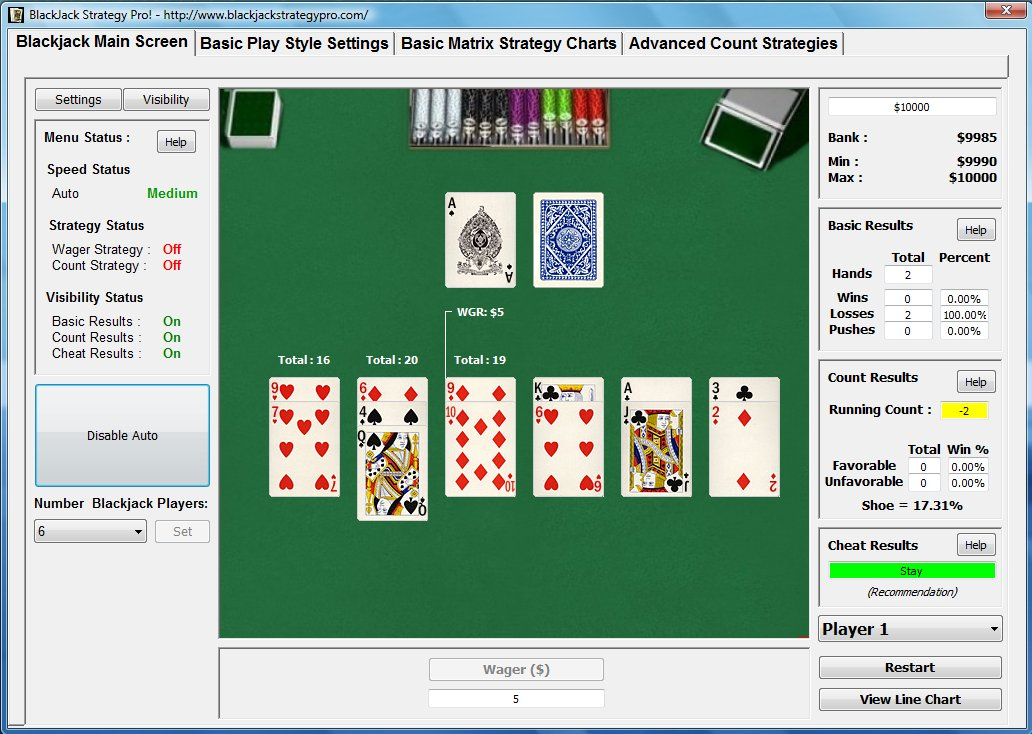 With Blackjack Strategy Pro!�s Basic Blackjack Strategy You Will be Winning More Consistently 9.0